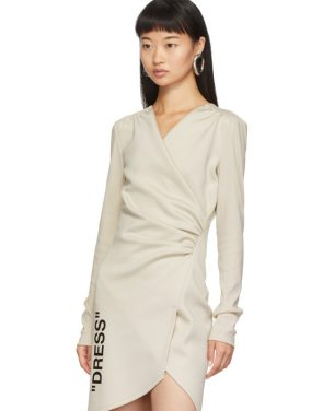 photo Beige Side Opening Mini Dress by Off-White - Image 4