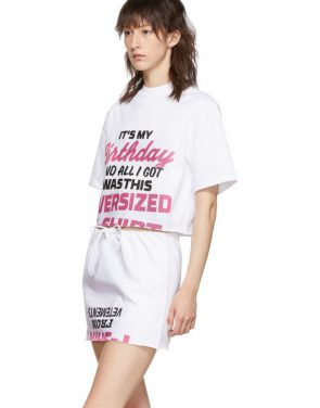 photo White Happy Birthday T-Shirt Dress Set by VETEMENTS - Image 5
