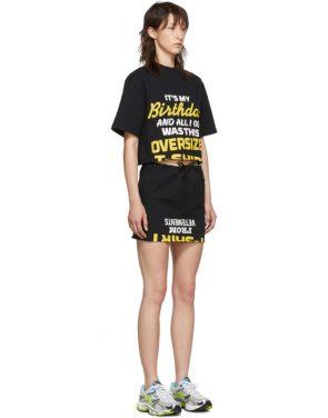photo Black Happy Birthday T-Shirt Dress Set by VETEMENTS - Image 2