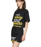 photo Black Happy Birthday T-Shirt Dress Set by VETEMENTS - Image 5