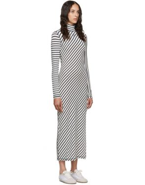 photo Navy and White Stripe Jersey High Neck Dress by Loewe - Image 2
