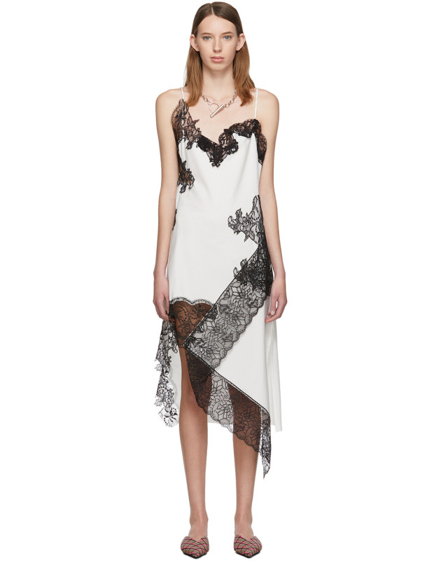 photo White Lace Slip Dress by Marques Almeida - Image 1
