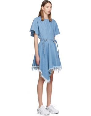 photo Blue Denim Asymmetric Dress by Marques Almeida - Image 2