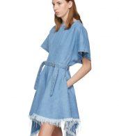 photo Blue Denim Asymmetric Dress by Marques Almeida - Image 4