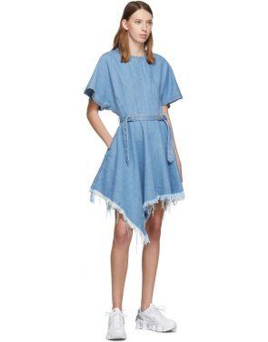 photo Blue Denim Asymmetric Dress by Marques Almeida - Image 5