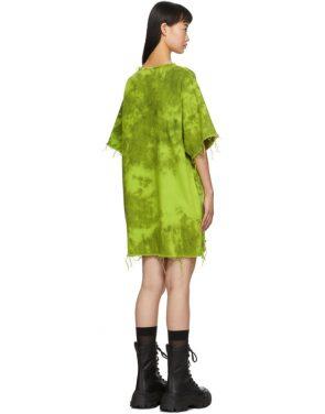 photo Green Denim Tie Dye Dress by Marques Almeida - Image 3