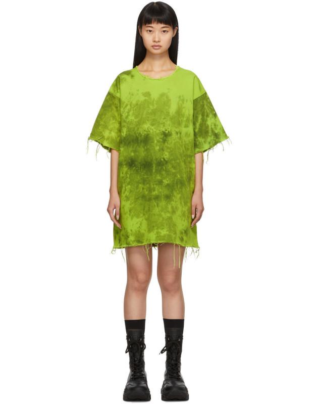 photo Green Denim Tie Dye Dress by Marques Almeida - Image 1