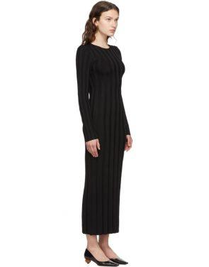 photo Black Bianco Long Dress by Toteme - Image 2