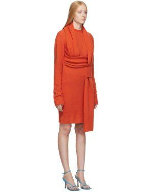 photo Orange Look 5 Wool Sweater Dress by Bottega Veneta - Image 2