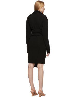 photo Black Twin Scarf Knit Dress by Bottega Veneta - Image 3