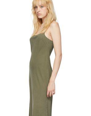 photo Khaki Silk Bias Slip Dress by Our Legacy - Image 4