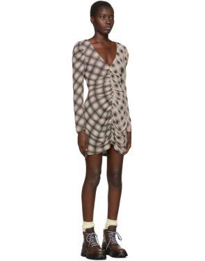 photo Beige and Black Ripple Dress by Eckhaus Latta - Image 2