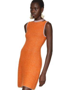photo Orange Clavicle Dress by Eckhaus Latta - Image 4