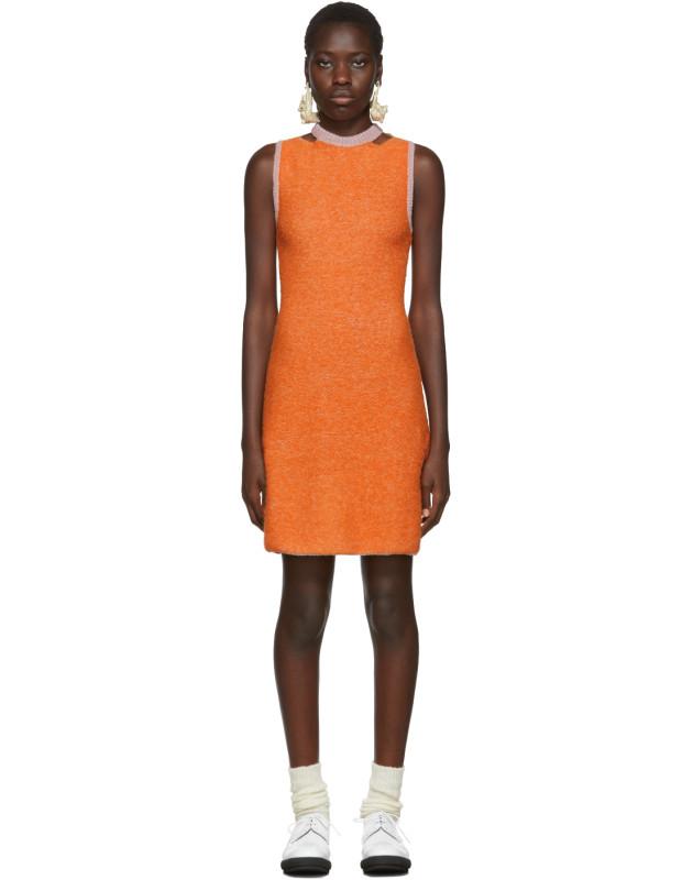 photo Orange Clavicle Dress by Eckhaus Latta - Image 1