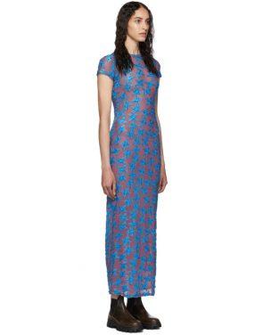 photo Purple and Blue Shrunk Dress by Eckhaus Latta - Image 2