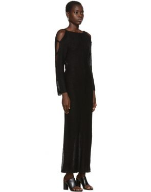 photo Black Plunge Dress by Eckhaus Latta - Image 2