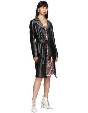 photo Pink Silk Chiffon Print Dress by Miu Miu - Image 5