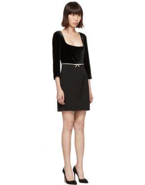 photo Black Velvet Dress by Miu Miu - Image 2