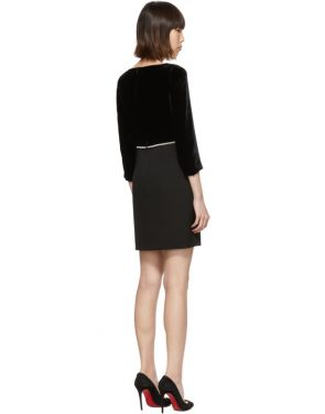 photo Black Velvet Dress by Miu Miu - Image 3