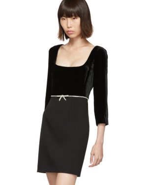 photo Black Velvet Dress by Miu Miu - Image 4