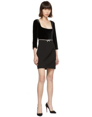 photo Black Velvet Dress by Miu Miu - Image 5