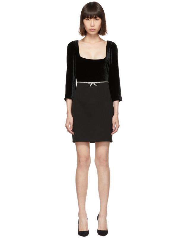 photo Black Velvet Dress by Miu Miu - Image 1