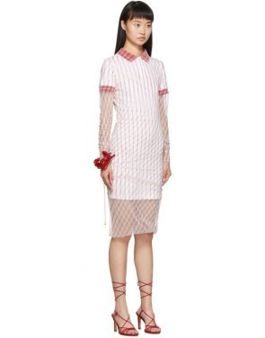photo Red Printed Condom Polo Dress by Y/Project - Image 2