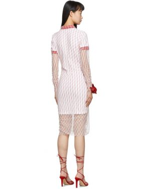 photo Red Printed Condom Polo Dress by Y/Project - Image 3
