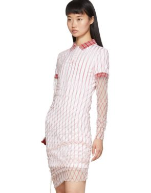 photo Red Printed Condom Polo Dress by Y/Project - Image 4