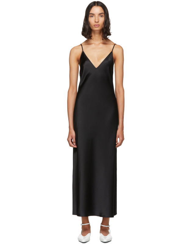 photo Black Silk Clea Dress by Joseph - Image 1