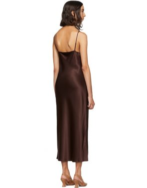 photo Burgundy Silk Clea Dress by Joseph - Image 3