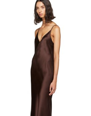 photo Burgundy Silk Clea Dress by Joseph - Image 4