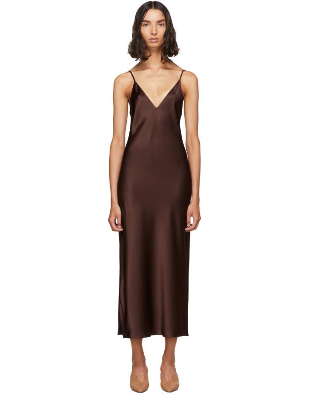 photo Burgundy Silk Clea Dress by Joseph - Image 1