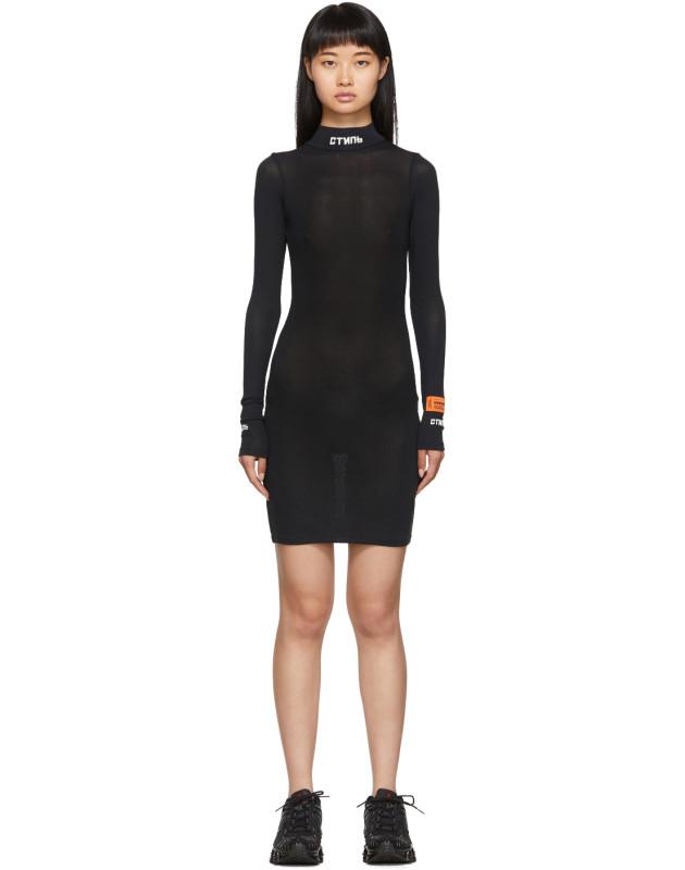 photo Black Style Turtleneck Dress by Heron Preston - Image 1