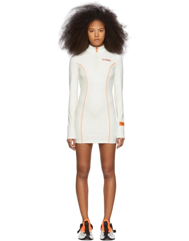 photo White and Orange Style Active Dress by Heron Preston - Image 1