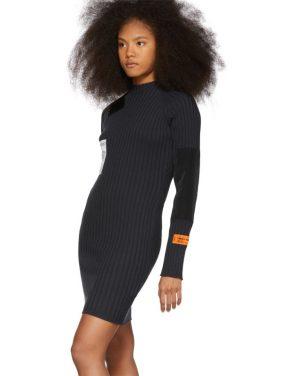 photo Black Rib Dress by Heron Preston - Image 4