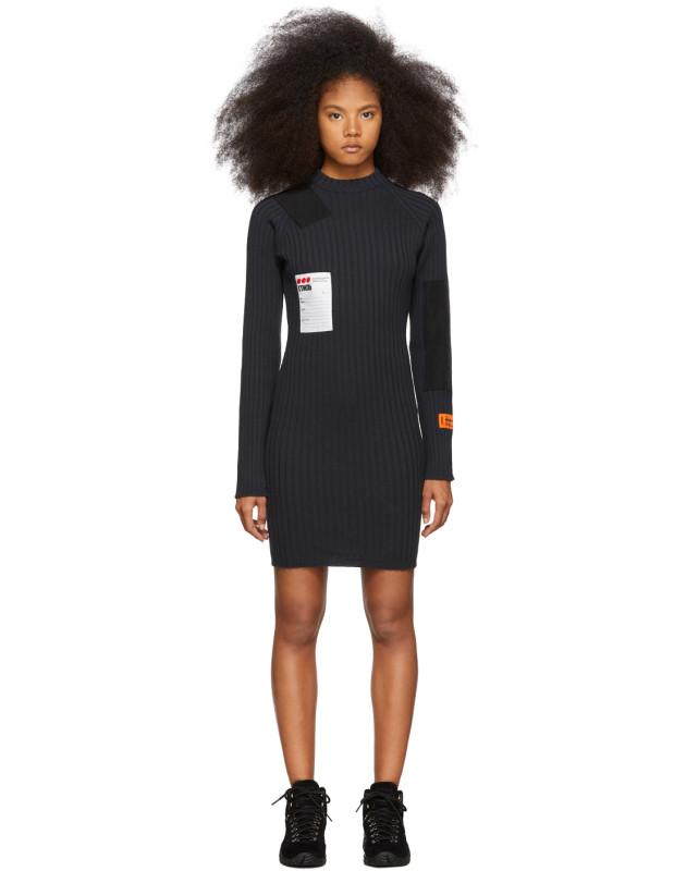 photo Black Rib Dress by Heron Preston - Image 1
